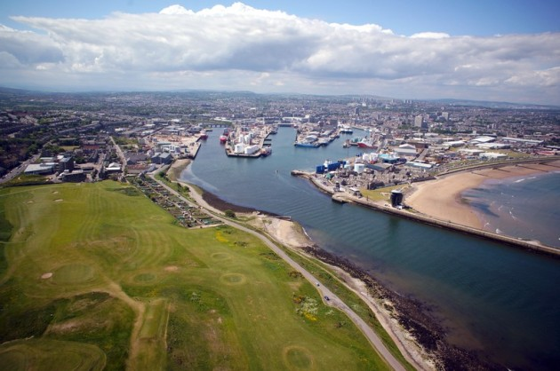 Aerial picture of Aberdeen Harbour 2013 - Bestviewedfromabove.co.uk