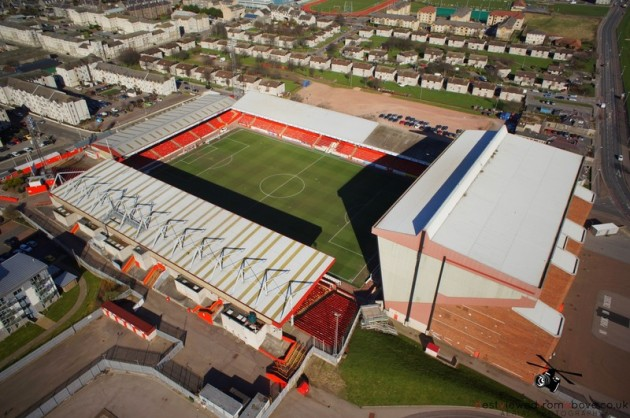 Aerial Picture of Aberdeen Football Club's Stadium
