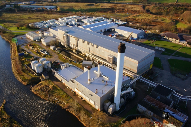 Aerial Picture of the old Inverurie Papermill