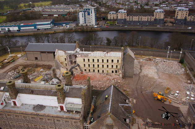 Aerial Picture of Craiginches Prison part demolished