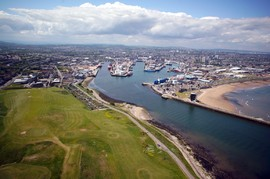 Aerial Picture of Aberdeen Harbour