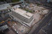 Aerial Picture of St Nicholas House during Demolision