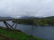 F550 Flying Over Kylesku Bridge