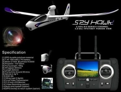 Spy Hawk RTF FPV Plane