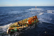 Aerial Picture of the sovereign BF380 Shipwreck