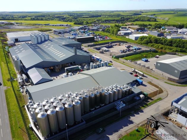 Aerial Picture of Brewdog and one of Ellon's Industrial Estates