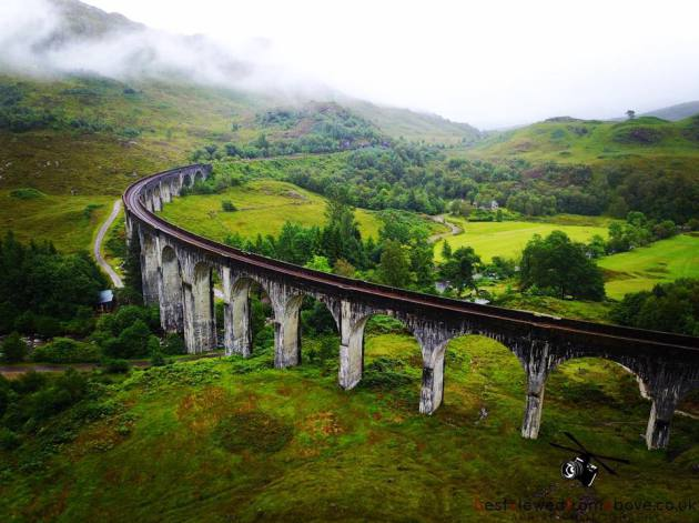 Aerial Picture of the Glenfinnan Viaduct