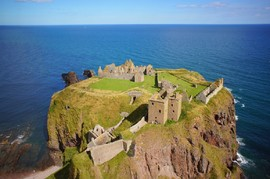 Aerial Picture of Dunnottar Castle