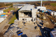 Aerial Pictures of the Demolition work at the Inverurie Papermill