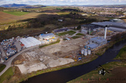 Aerial Picture of Inverurie Paper Mill Knocked Down
