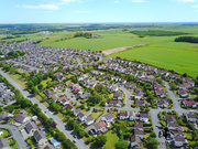 Aerial Picture of the town of Ellon