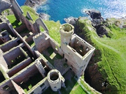 Aerial Picture of Slains Castle