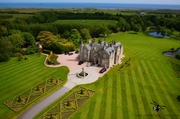 Aerial Picture of Menie House within the Grounds of Trump Golf Course