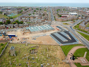 Aerial Picture of the New Aldi Store during Construction